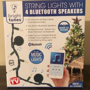 String Lights with Bluetooth Speakers